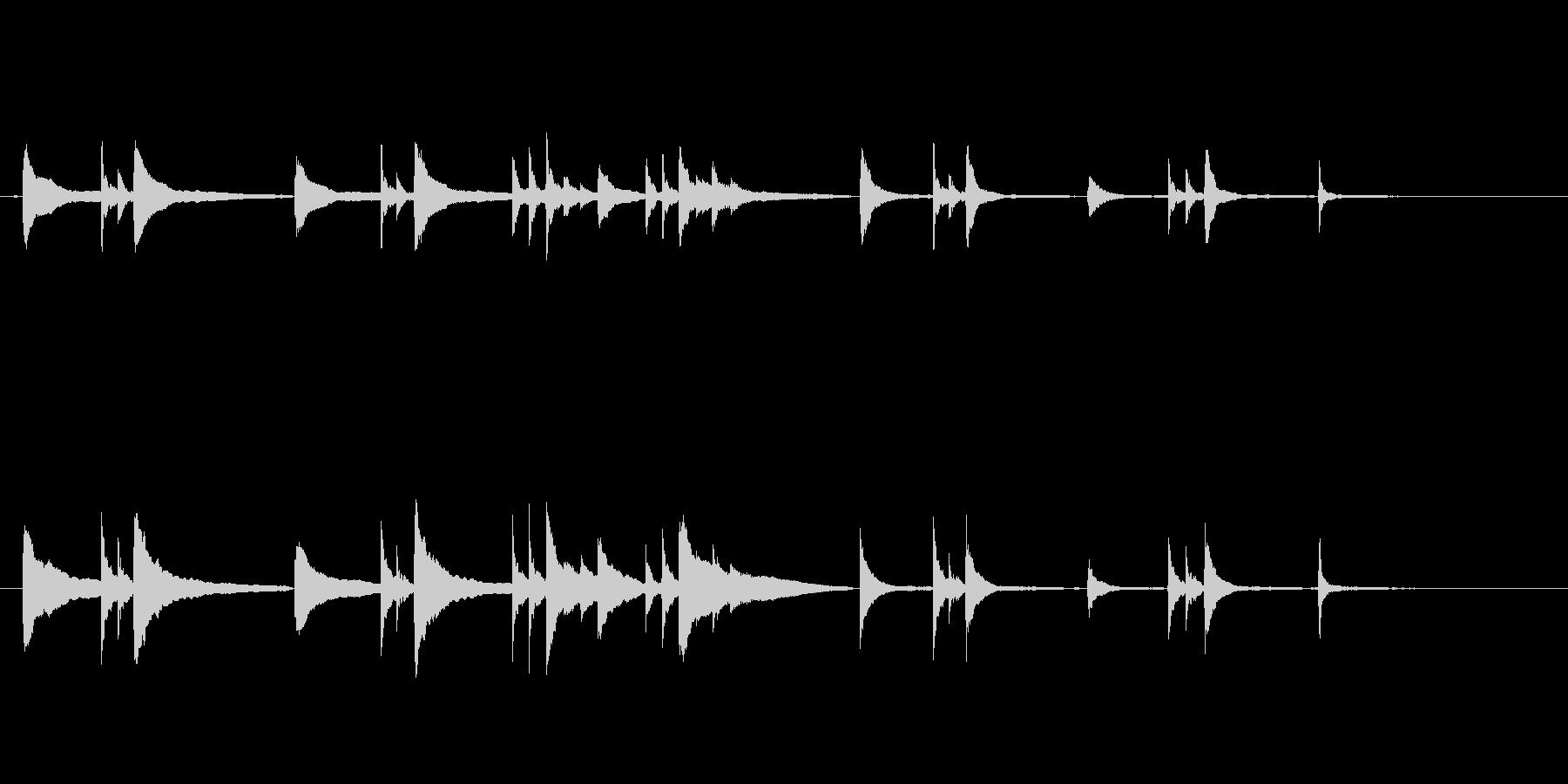 悩みや葛藤のシーンに使いたいピアノソロの未再生の波形