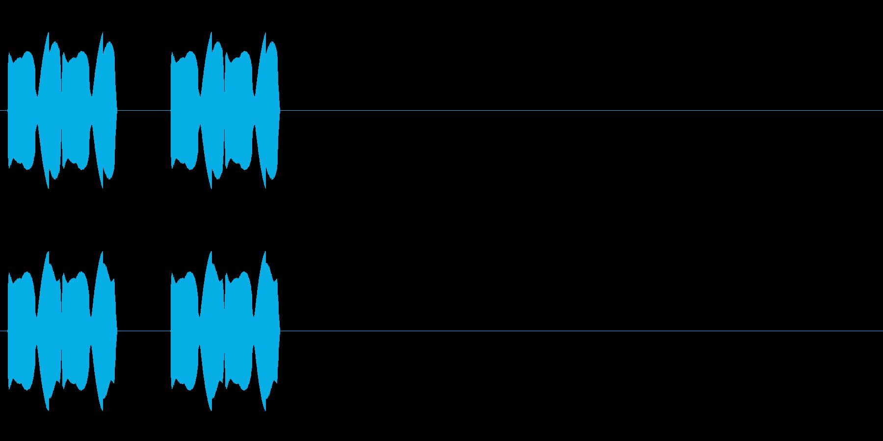 ピピッピピッの再生済みの波形