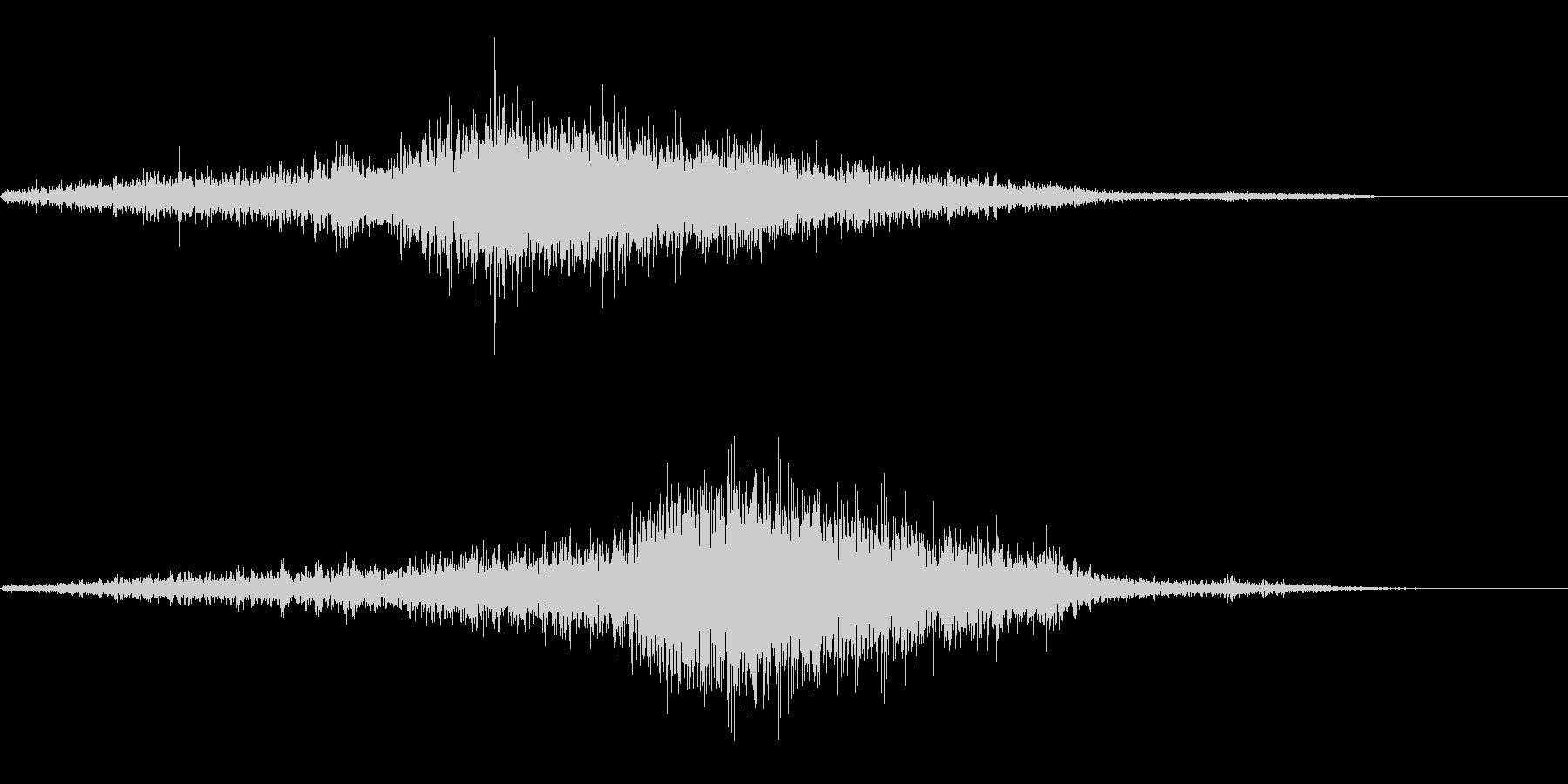 シュシュシュ(巻き尺)の未再生の波形