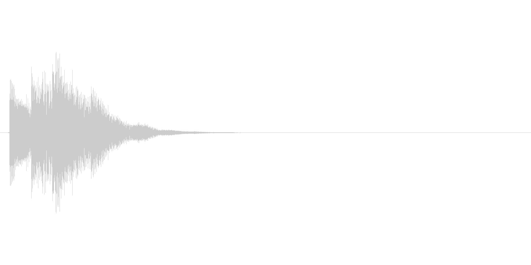 テレレレッ↑(アイテムゲット、決定)の未再生の波形