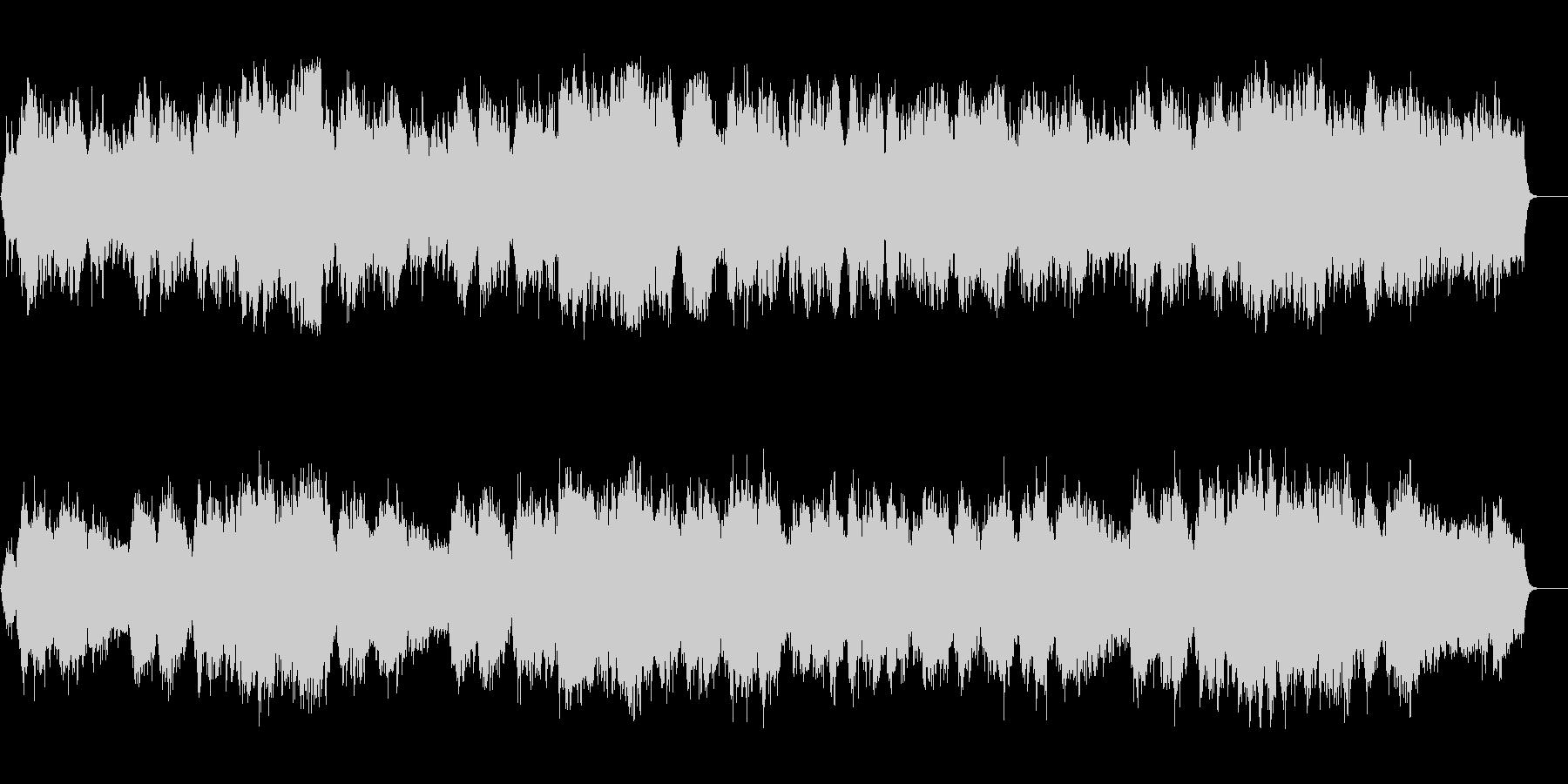 静穏な一時の安らぎのネイチャー系BGMの未再生の波形