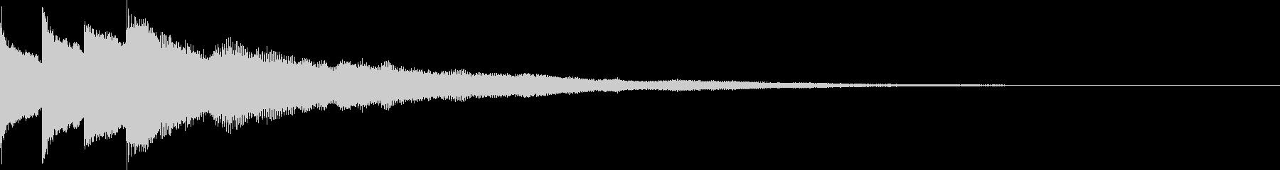 アイキャッチ用ジングル4 - ベル+αの未再生の波形