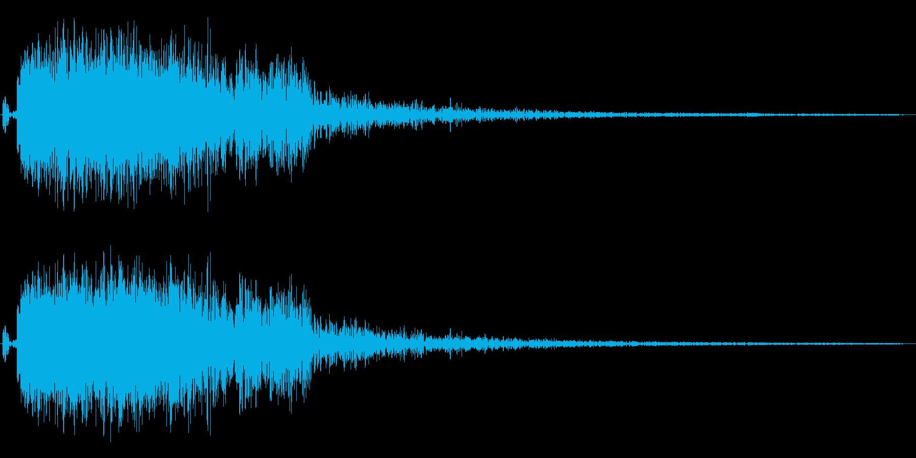 エネルギーの放出や自機の爆発音の再生済みの波形