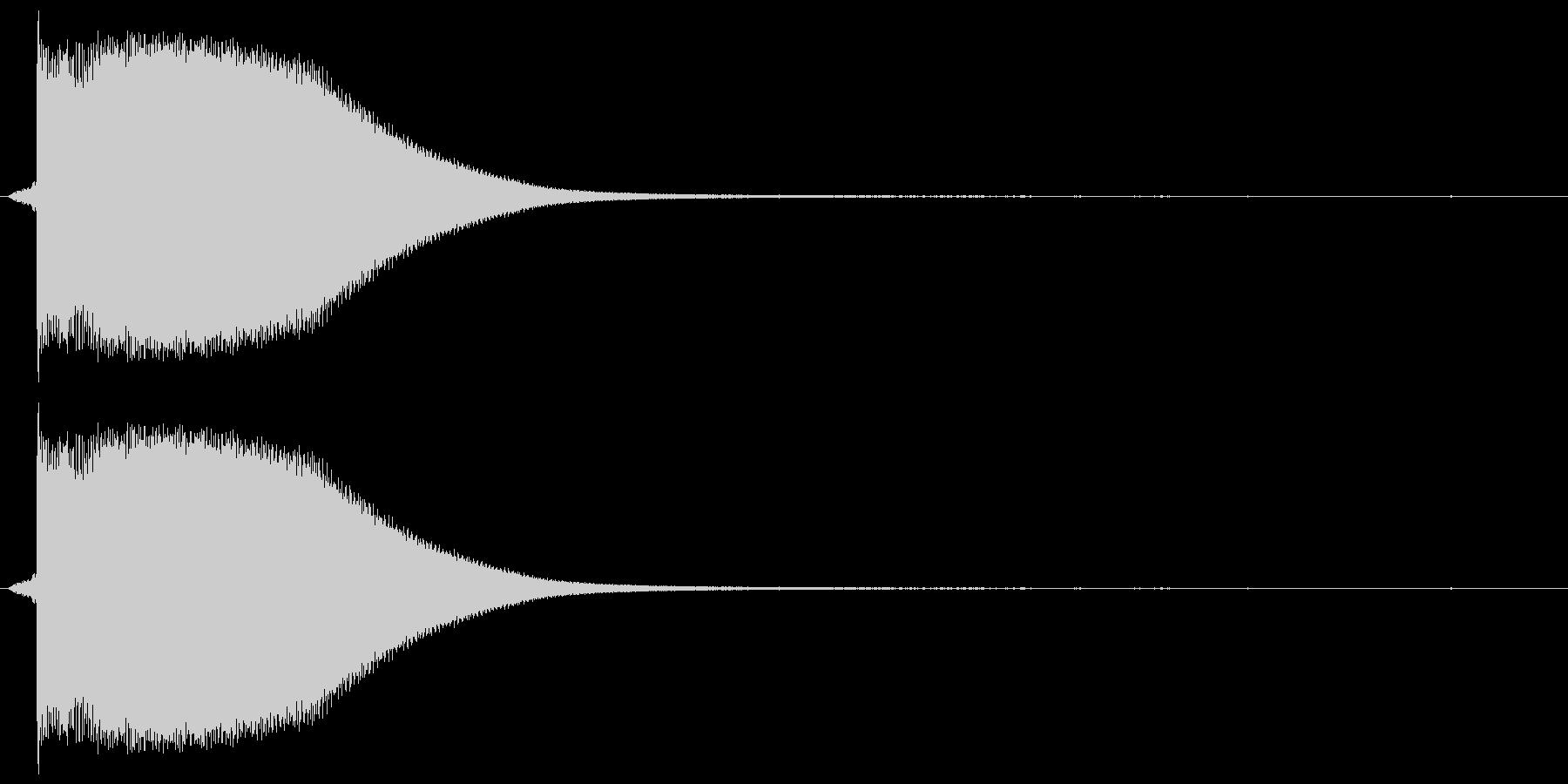 カン!(缶をたたいた音)の未再生の波形