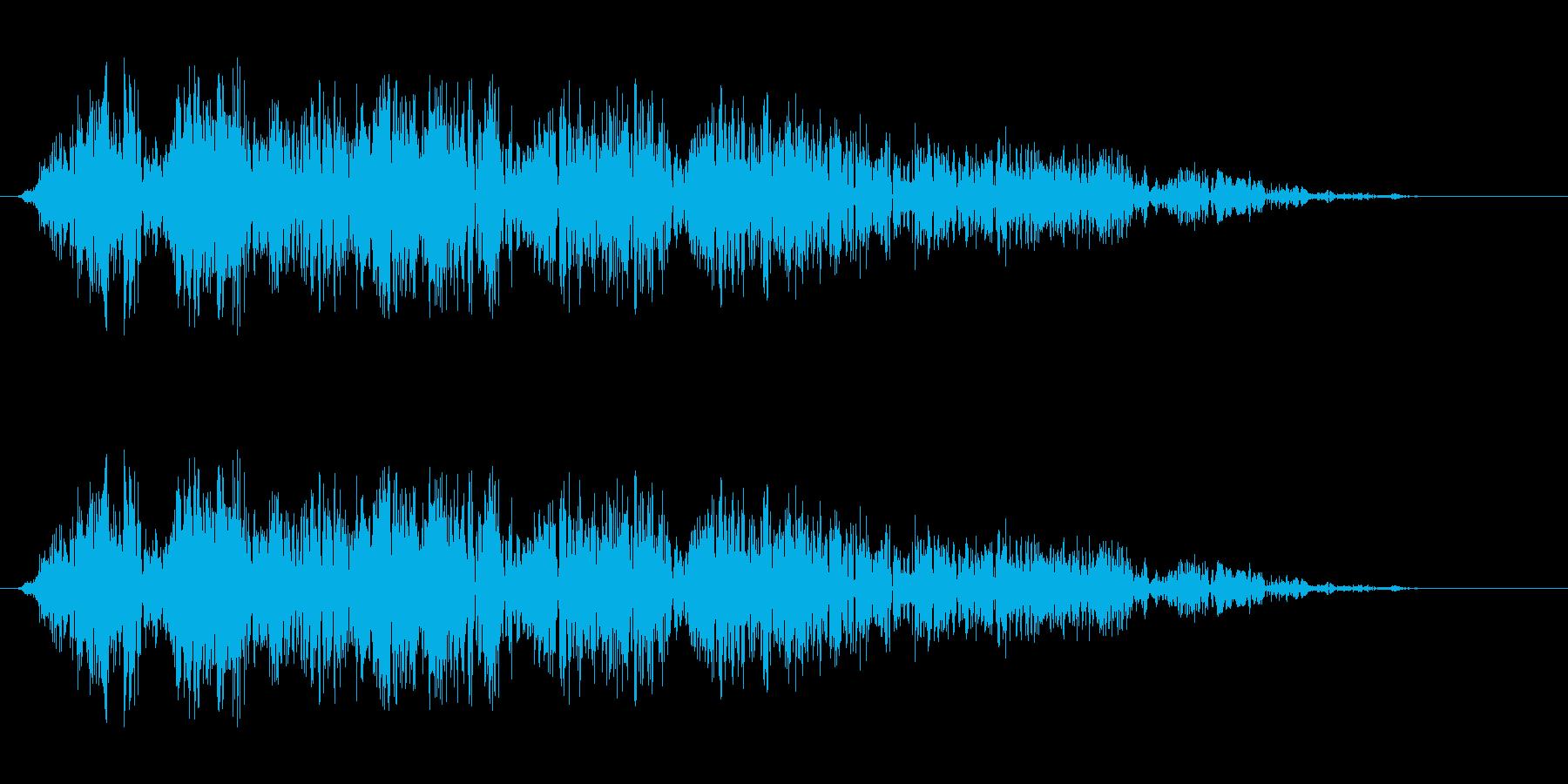 ビュシュワワ(回転系音)の再生済みの波形