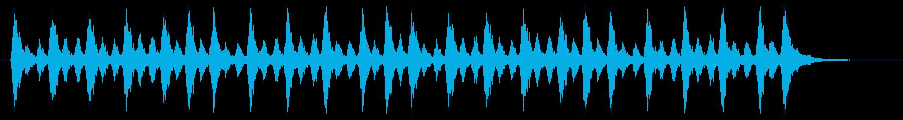 緊迫したオーケストラのジングルの再生済みの波形