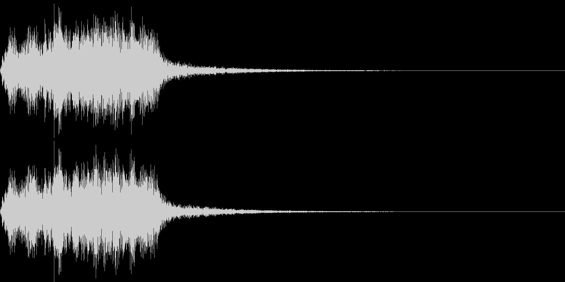恐怖音10(バイオリン)の未再生の波形