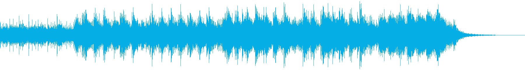 ミステリアスな雰囲気のピアノバラードの再生済みの波形