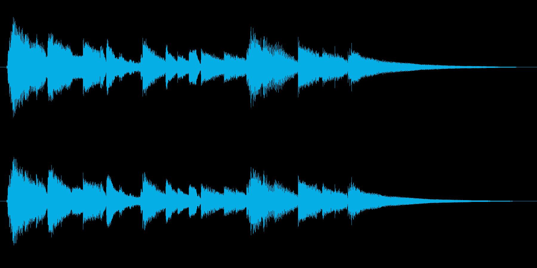 眠りと目覚めを連想させるアコギジングル3の再生済みの波形