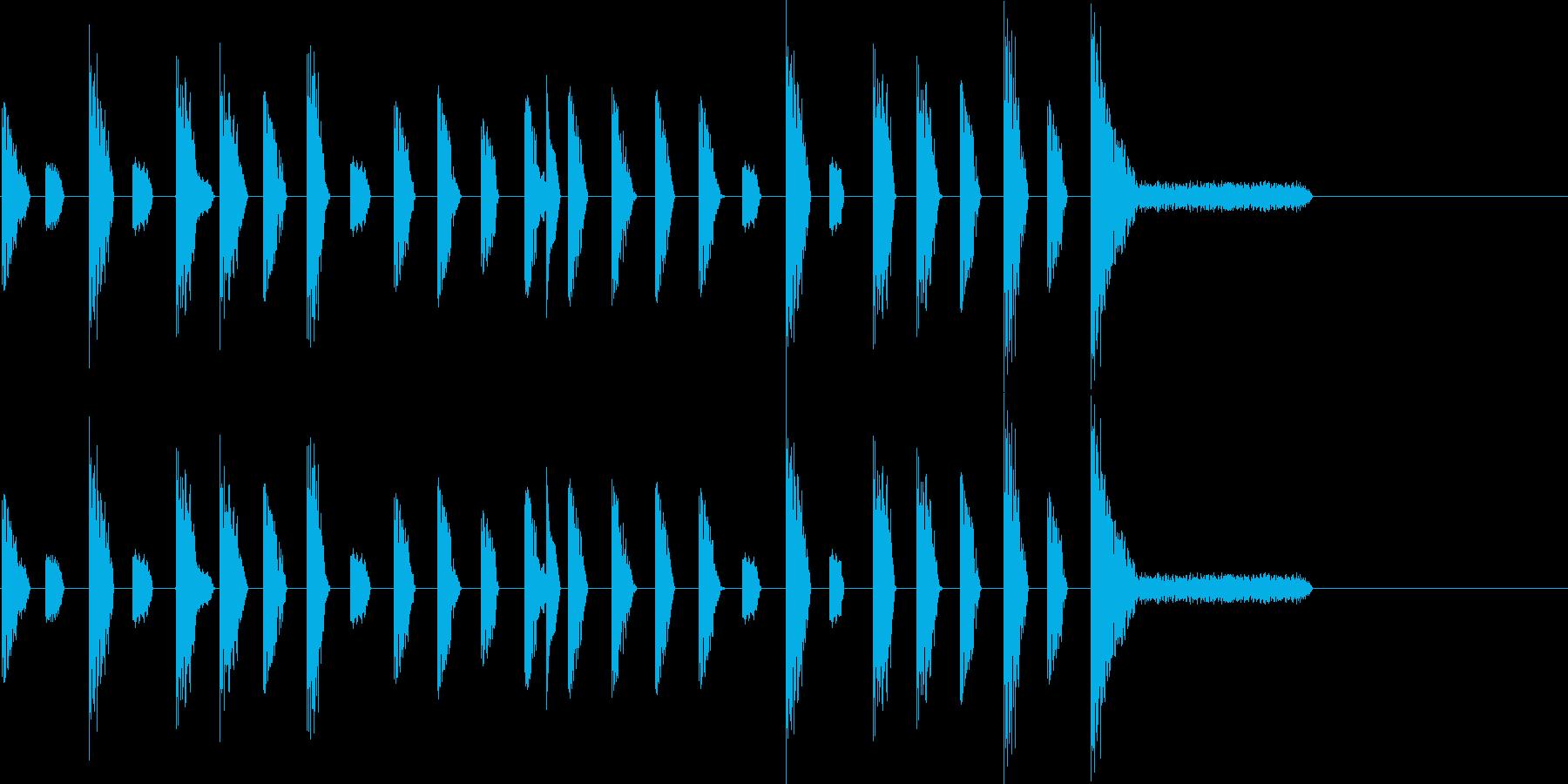 レトロゲーム風・ステージクリア#1の再生済みの波形