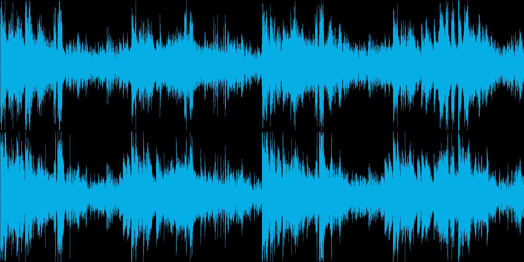 不安なシーンに最適な楽曲の再生済みの波形