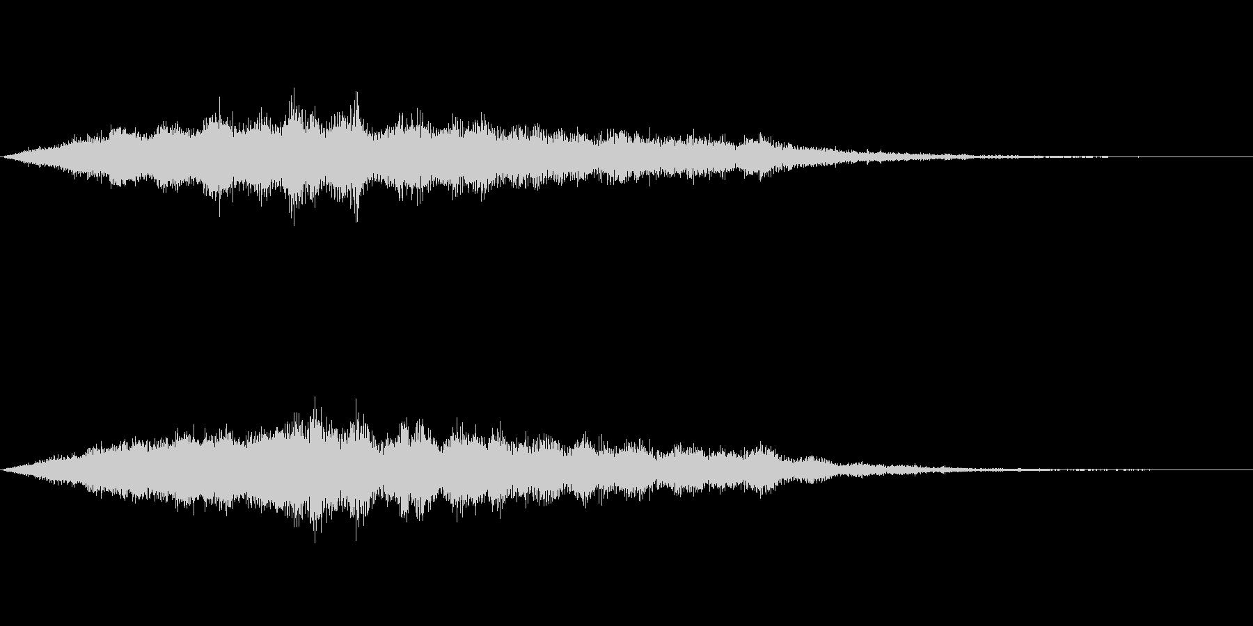 スペイシーな空間音 Aメジャーの未再生の波形