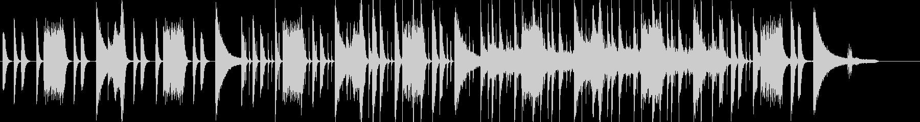 日常系の不思議な雰囲気のピアノポップの未再生の波形
