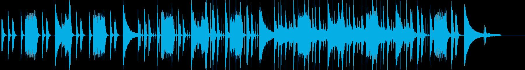 日常系の不思議な雰囲気のピアノポップの再生済みの波形