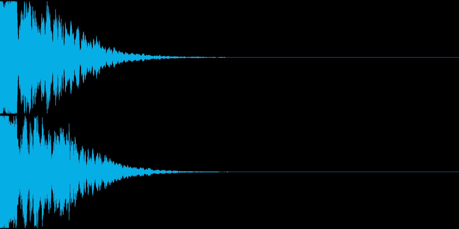 ポーン(ソナー音、電子音)の再生済みの波形