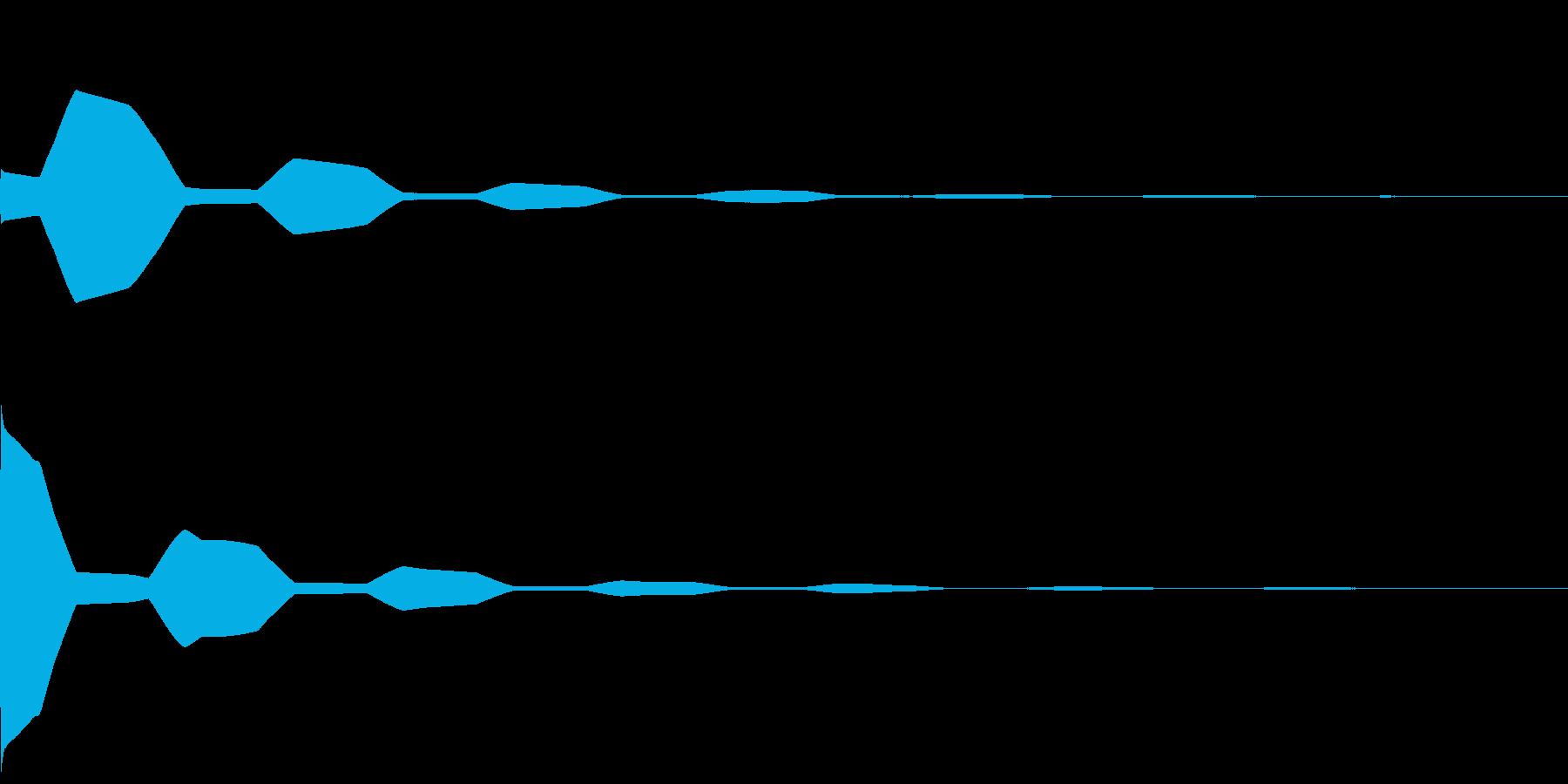 失敗音(ポワワン)の再生済みの波形