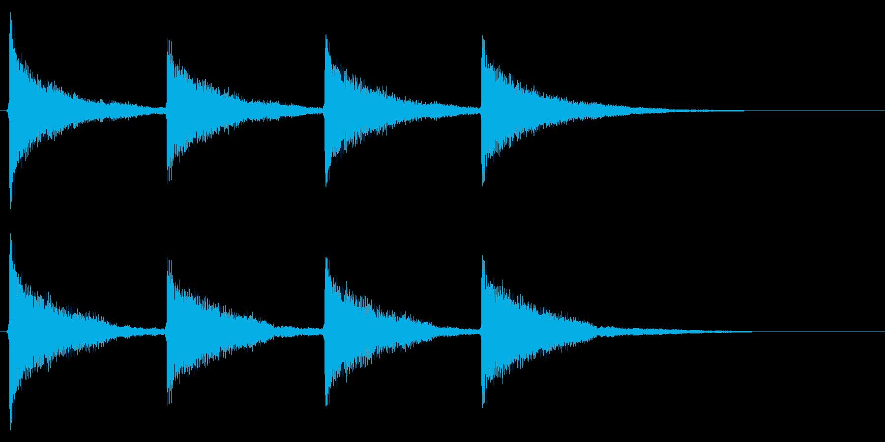 古時計/洋館/ゴーンゴーン/鐘/連続音の再生済みの波形