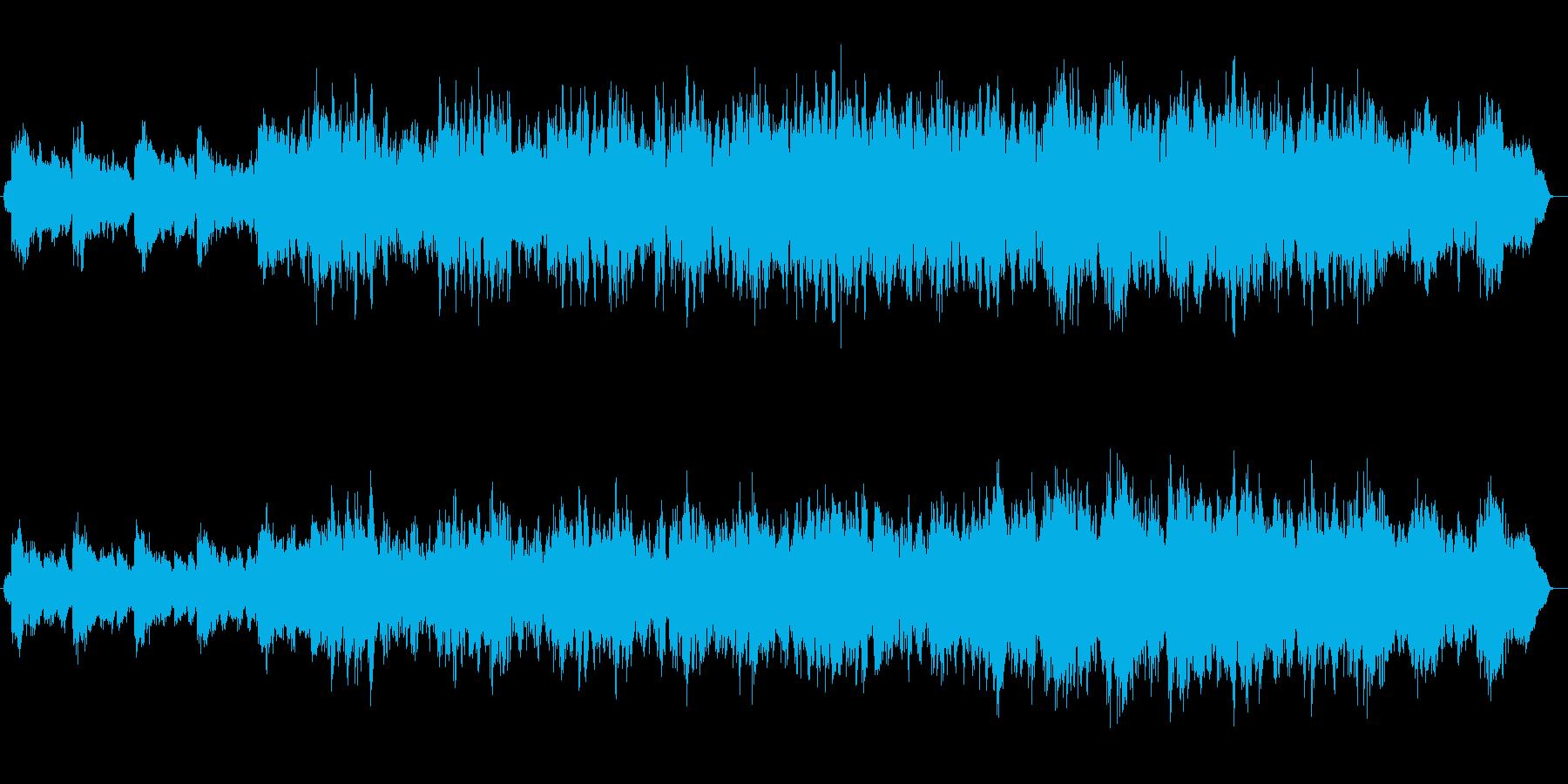 美しいループのヒーリングミュージックの再生済みの波形