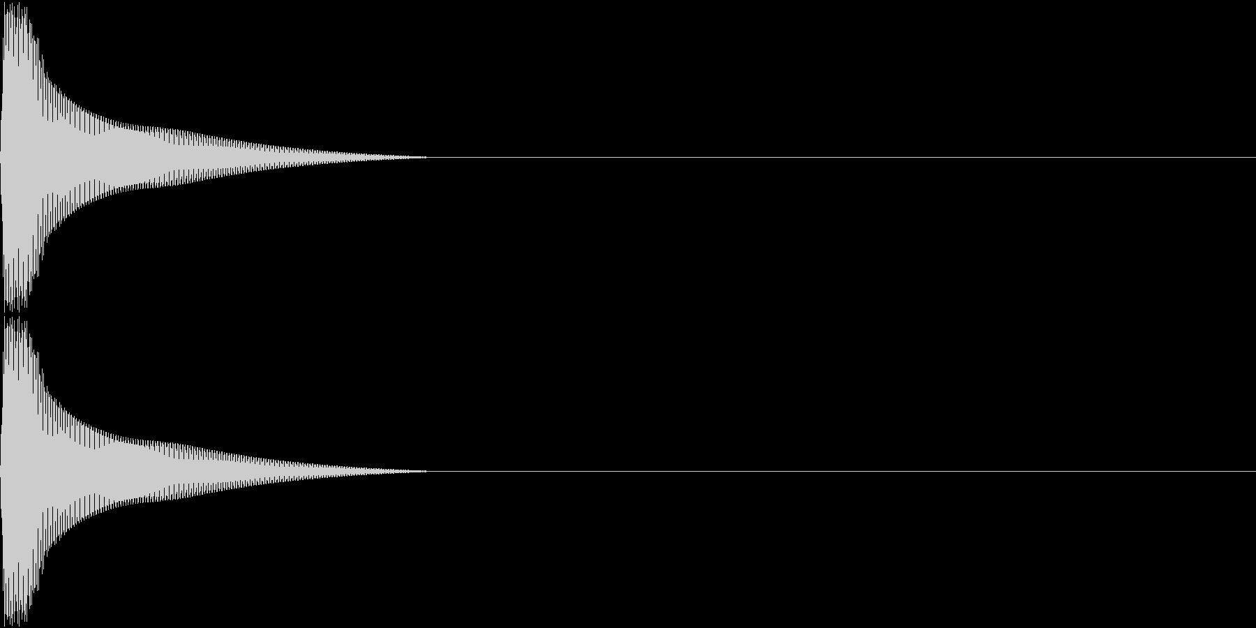 PureTouch アプリ用タッチ音 1の未再生の波形