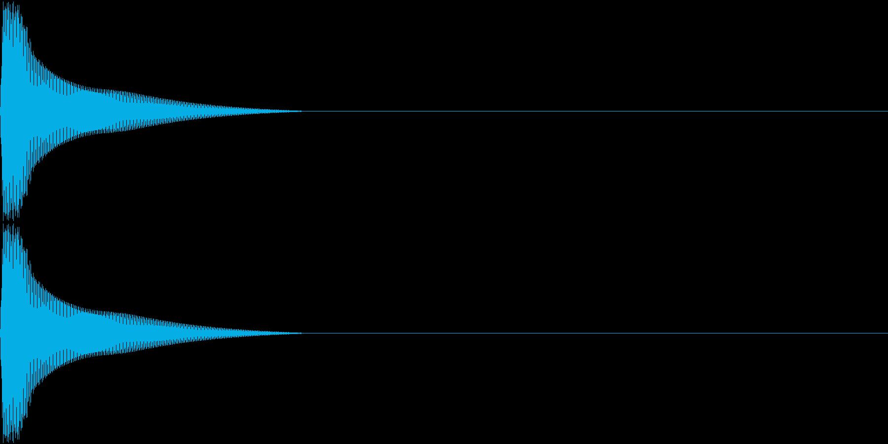 PureTouch アプリ用タッチ音 1の再生済みの波形