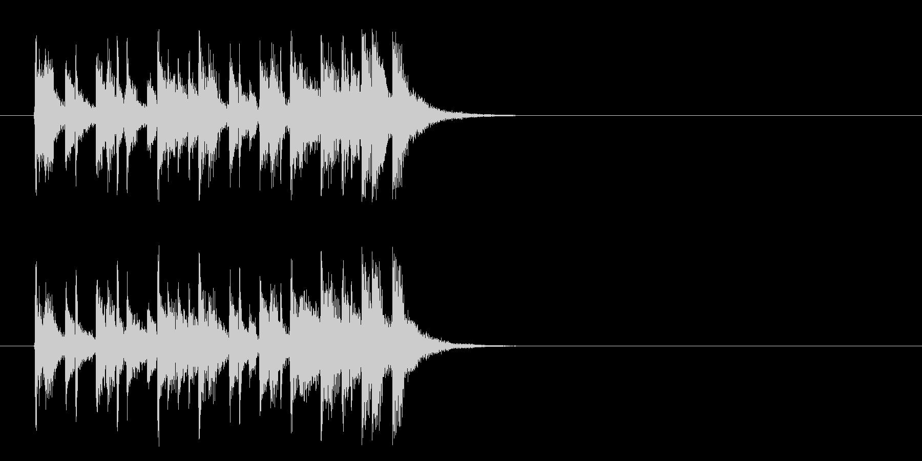 ジングル/インフォメーション(ポップ)の未再生の波形