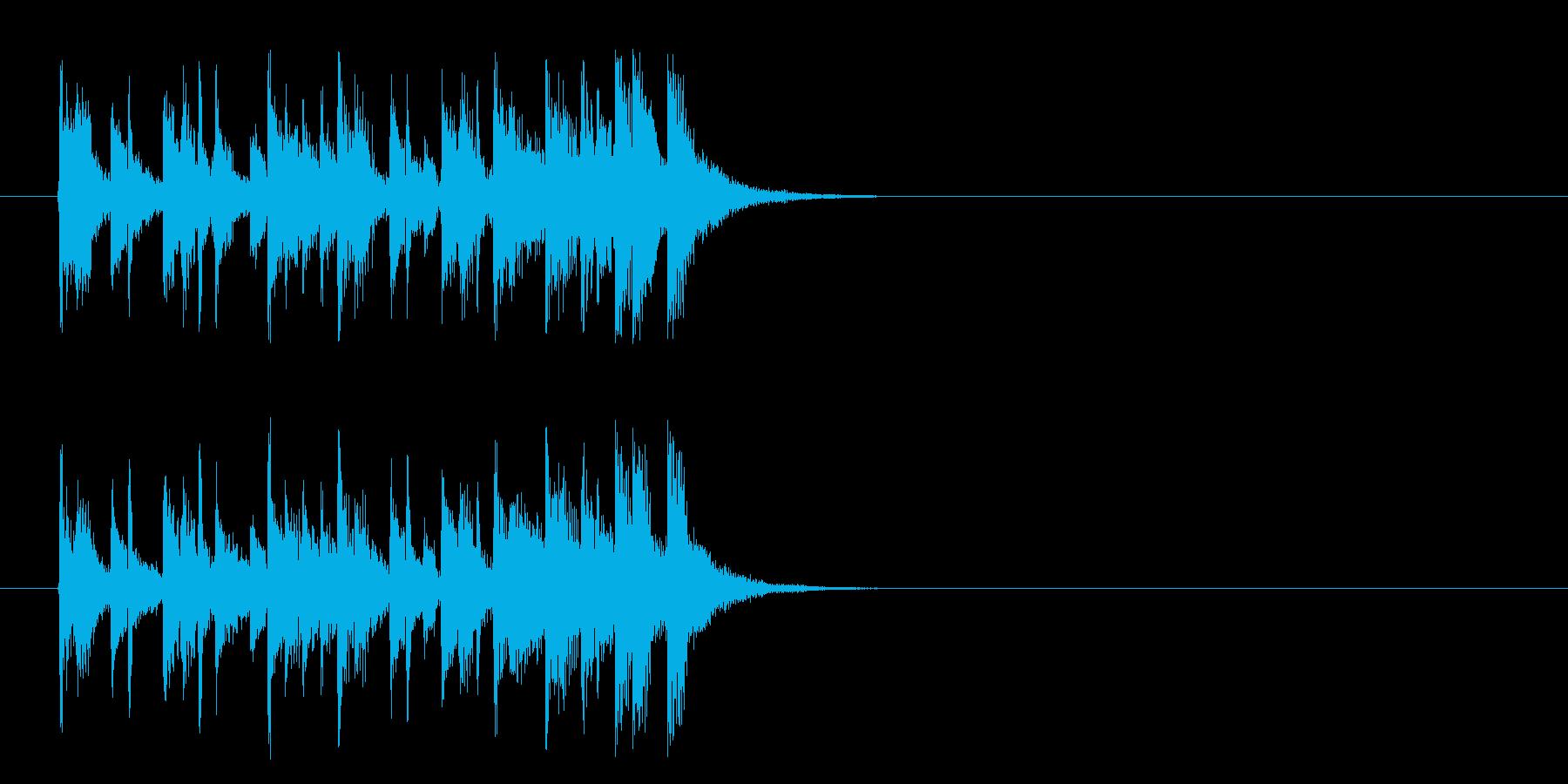 ジングル/インフォメーション(ポップ)の再生済みの波形