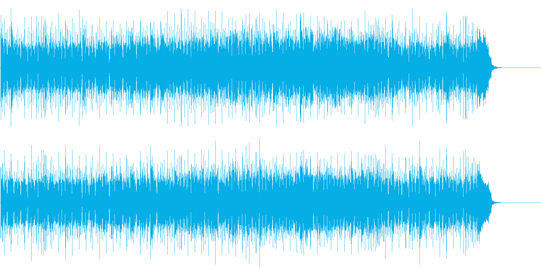 ショッピング CM インフォメーションの再生済みの波形