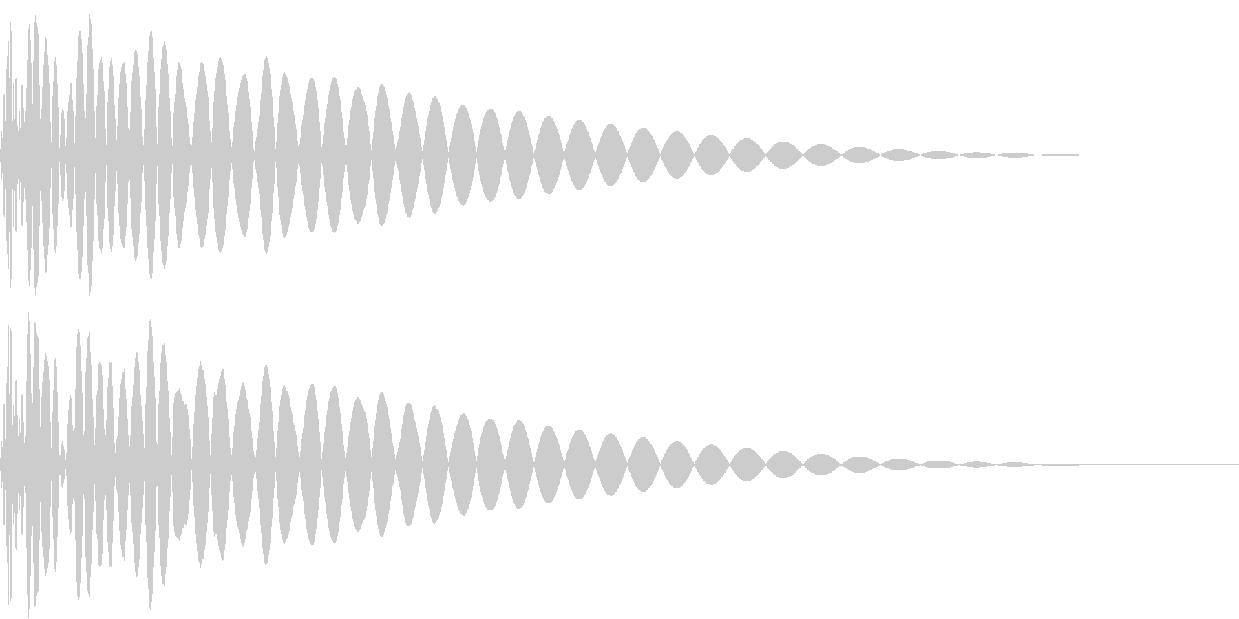 DTM Kick 12 オリジナル音源の未再生の波形
