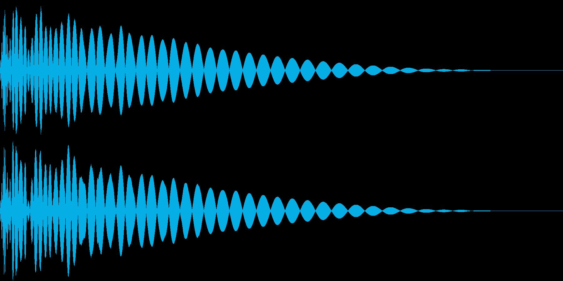 DTM Kick 12 オリジナル音源の再生済みの波形