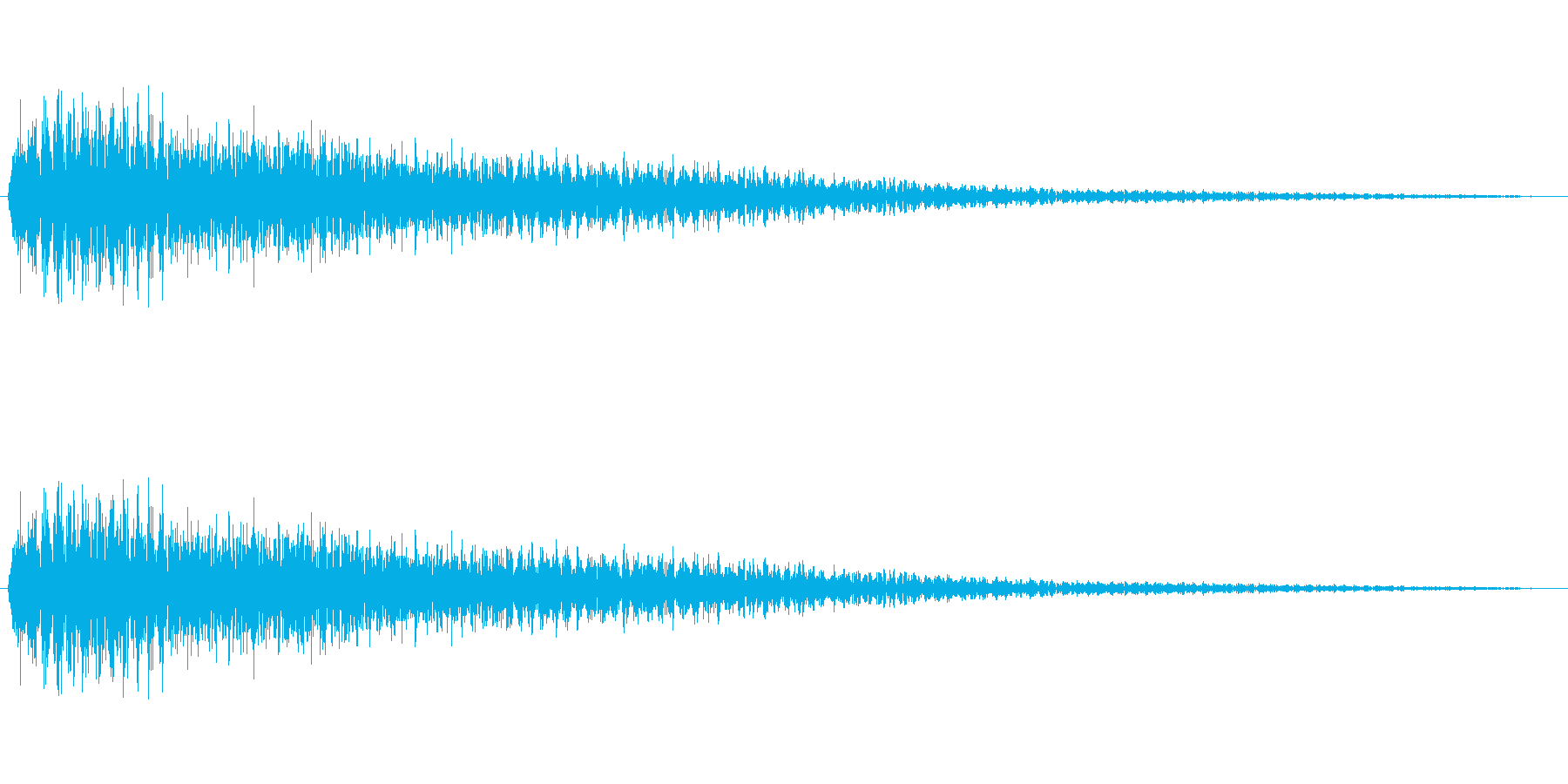 ピアノで低音をガーンと鳴らしましたの再生済みの波形