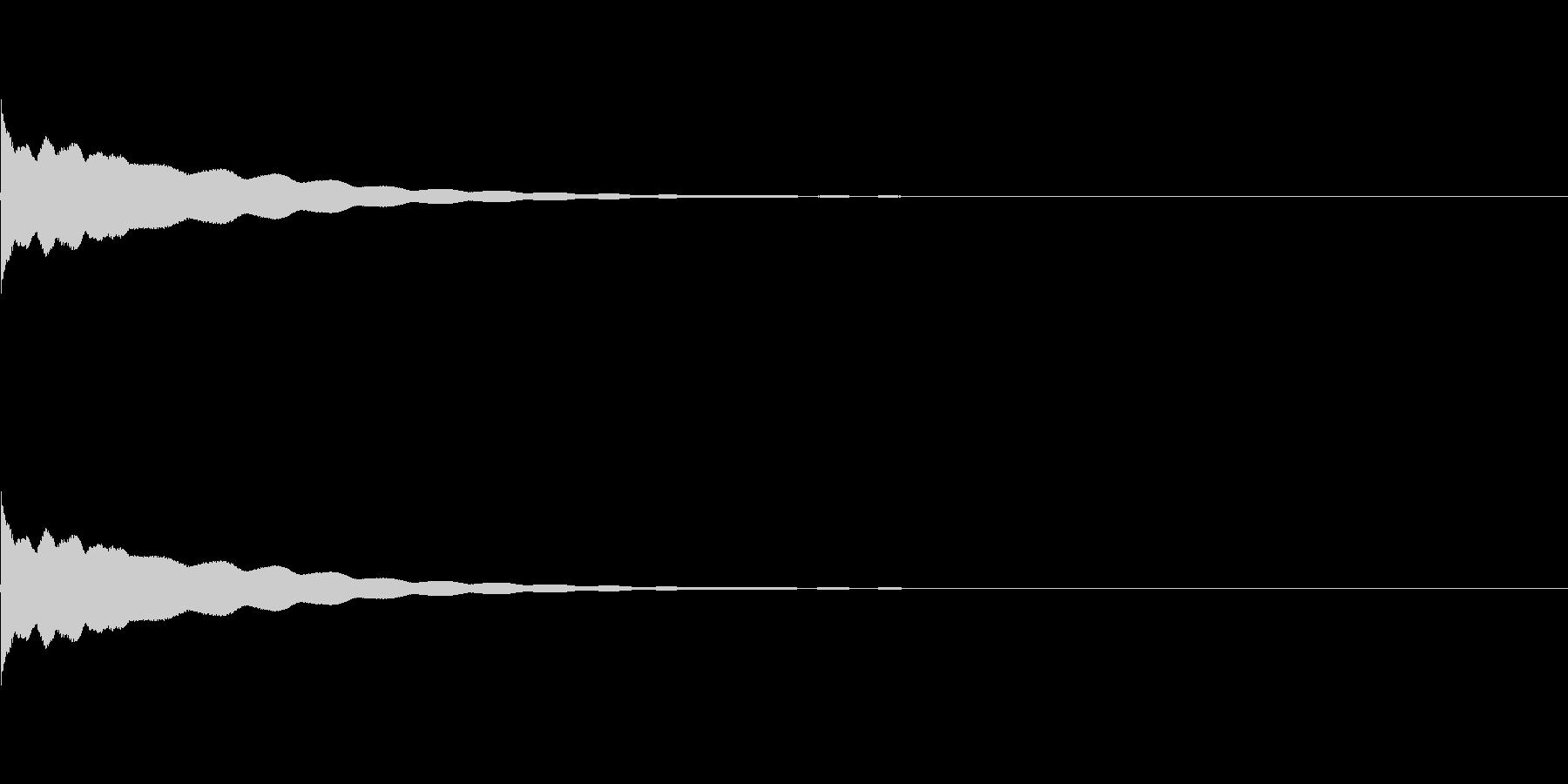 チーン(おりん)の未再生の波形