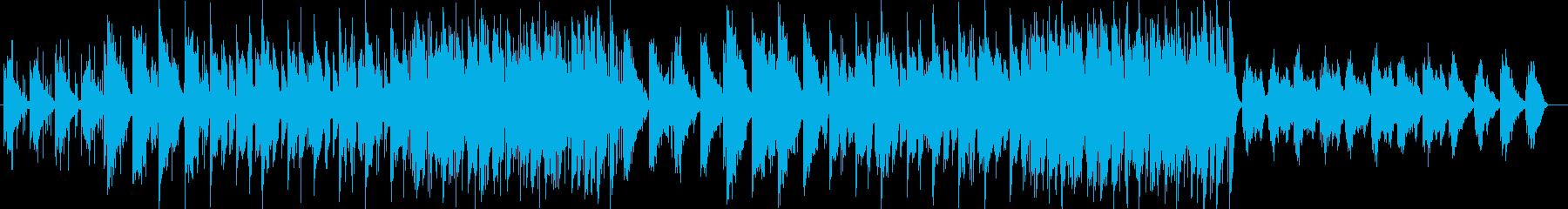 開放的なスローブリージングする環境音楽の再生済みの波形