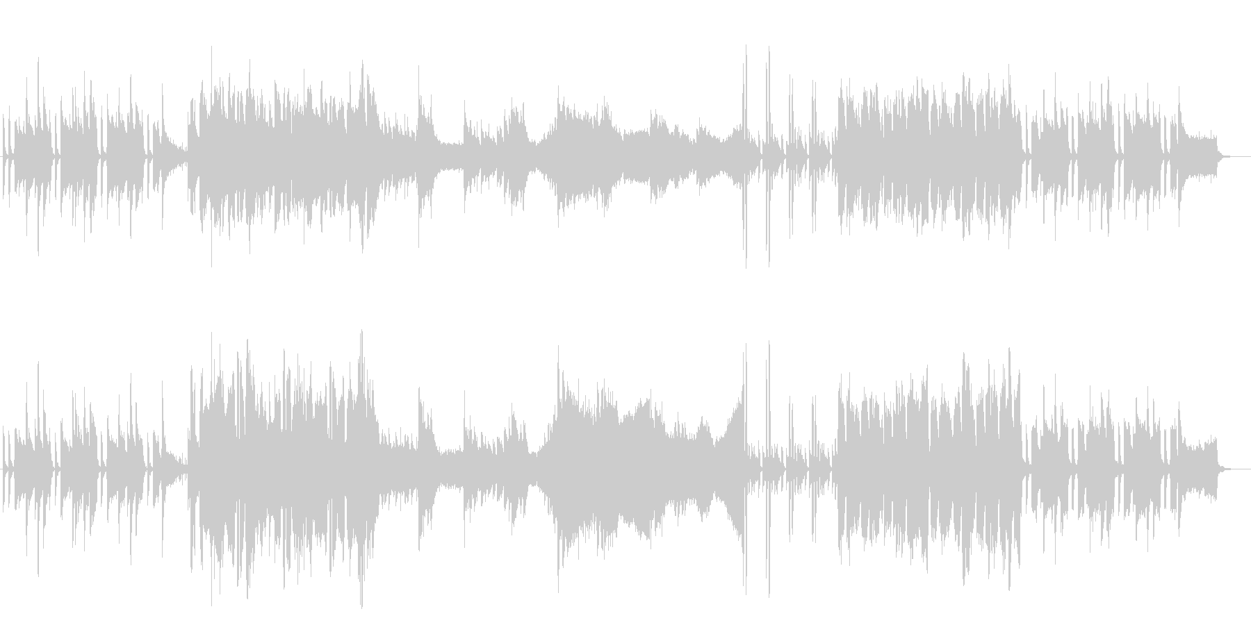 【BGM】穏やかな日常-ギター&オーボエの未再生の波形
