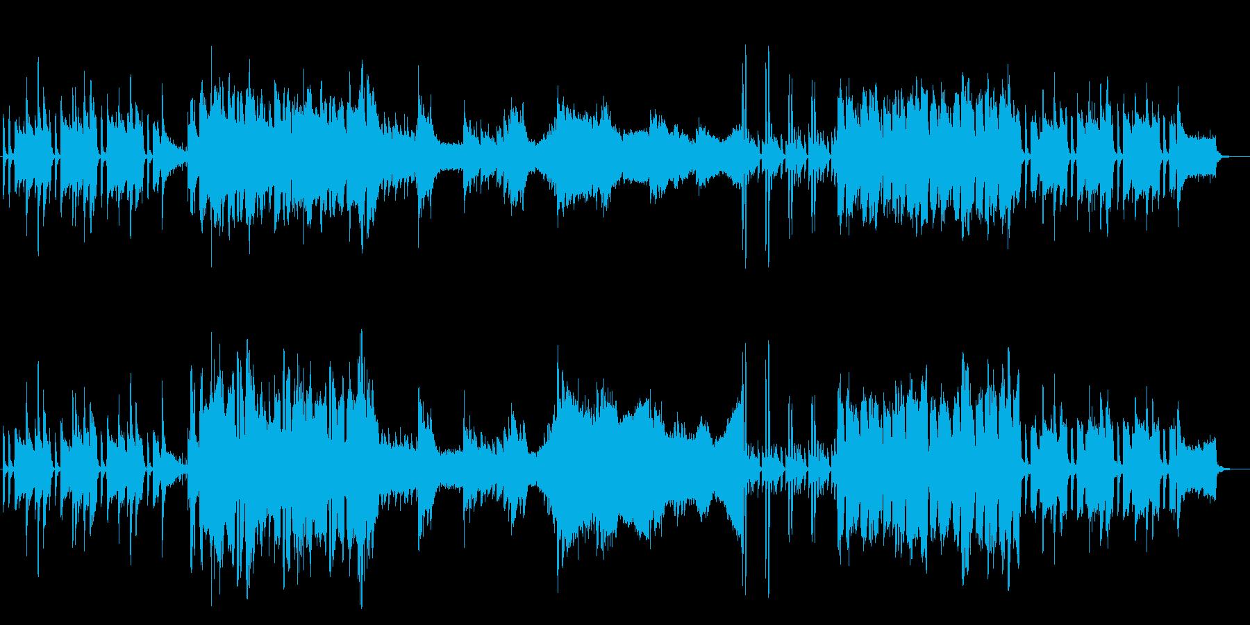 【BGM】穏やかな日常-ギター&オーボエの再生済みの波形
