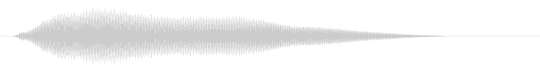 パあ?(宇宙人の掛け声)の未再生の波形
