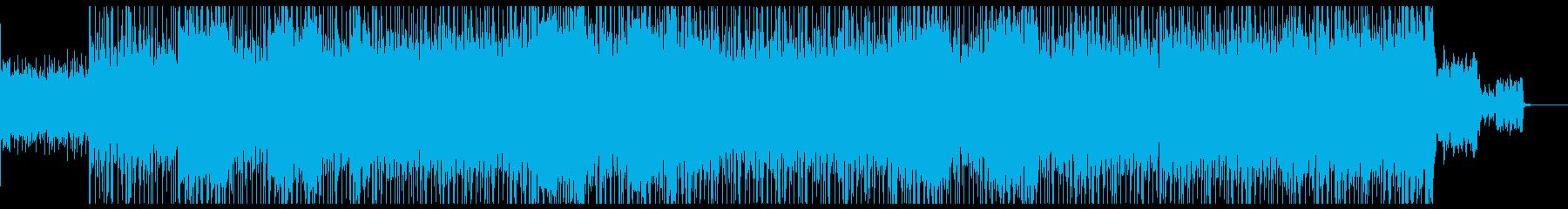 サイバー 近未来的な疾走感サウンドの再生済みの波形