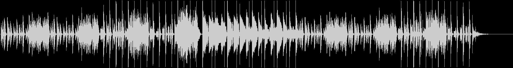 ノスタルジーなピアノ+リコーダー+リズムの未再生の波形