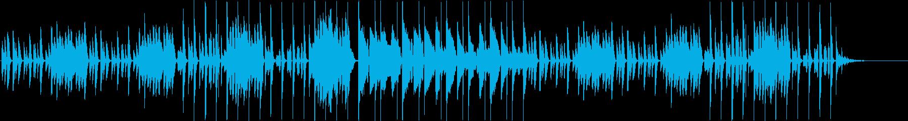ノスタルジーなピアノ+リコーダー+リズムの再生済みの波形