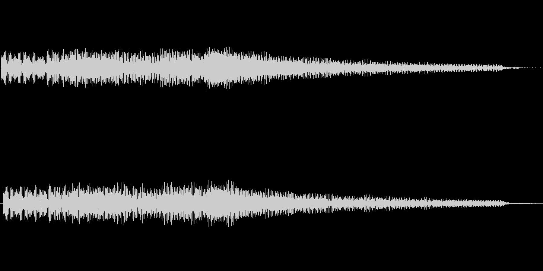シンプルなエレピのジングルの未再生の波形