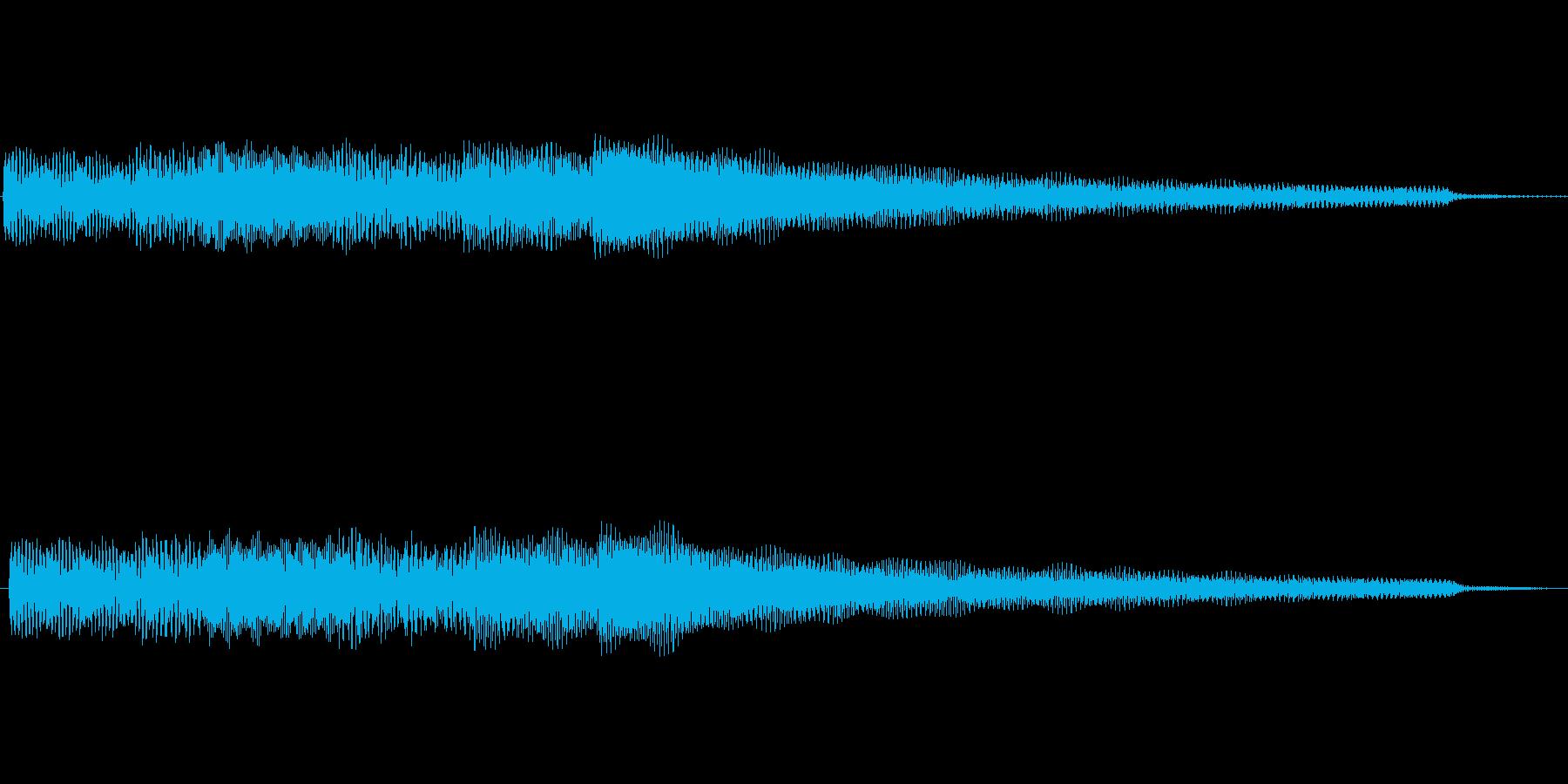 シンプルなエレピのジングルの再生済みの波形