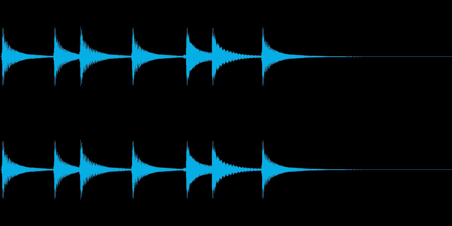 三味線のジングルの再生済みの波形