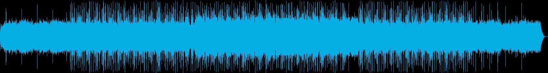 ゆったりとしたシンセ・ピアノサウンドの再生済みの波形