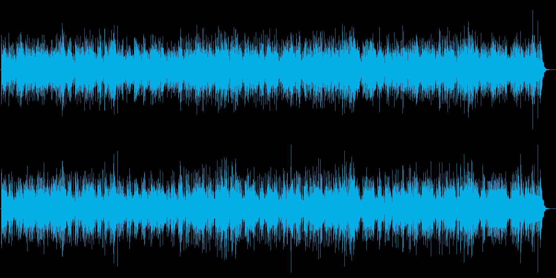 明るいフィーリングのポップスの再生済みの波形