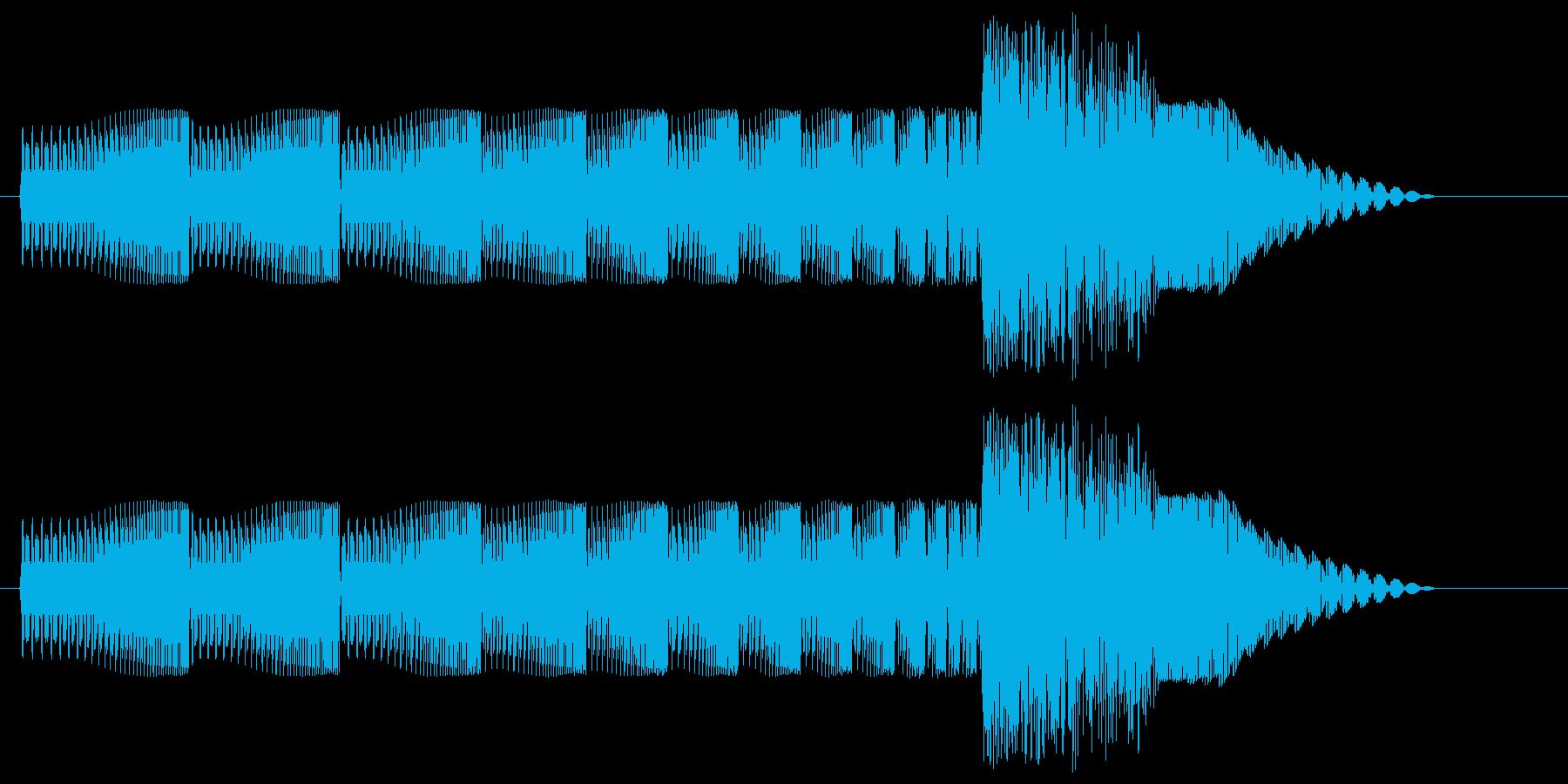 ギュワワン、とテレポーテーションする音…の再生済みの波形