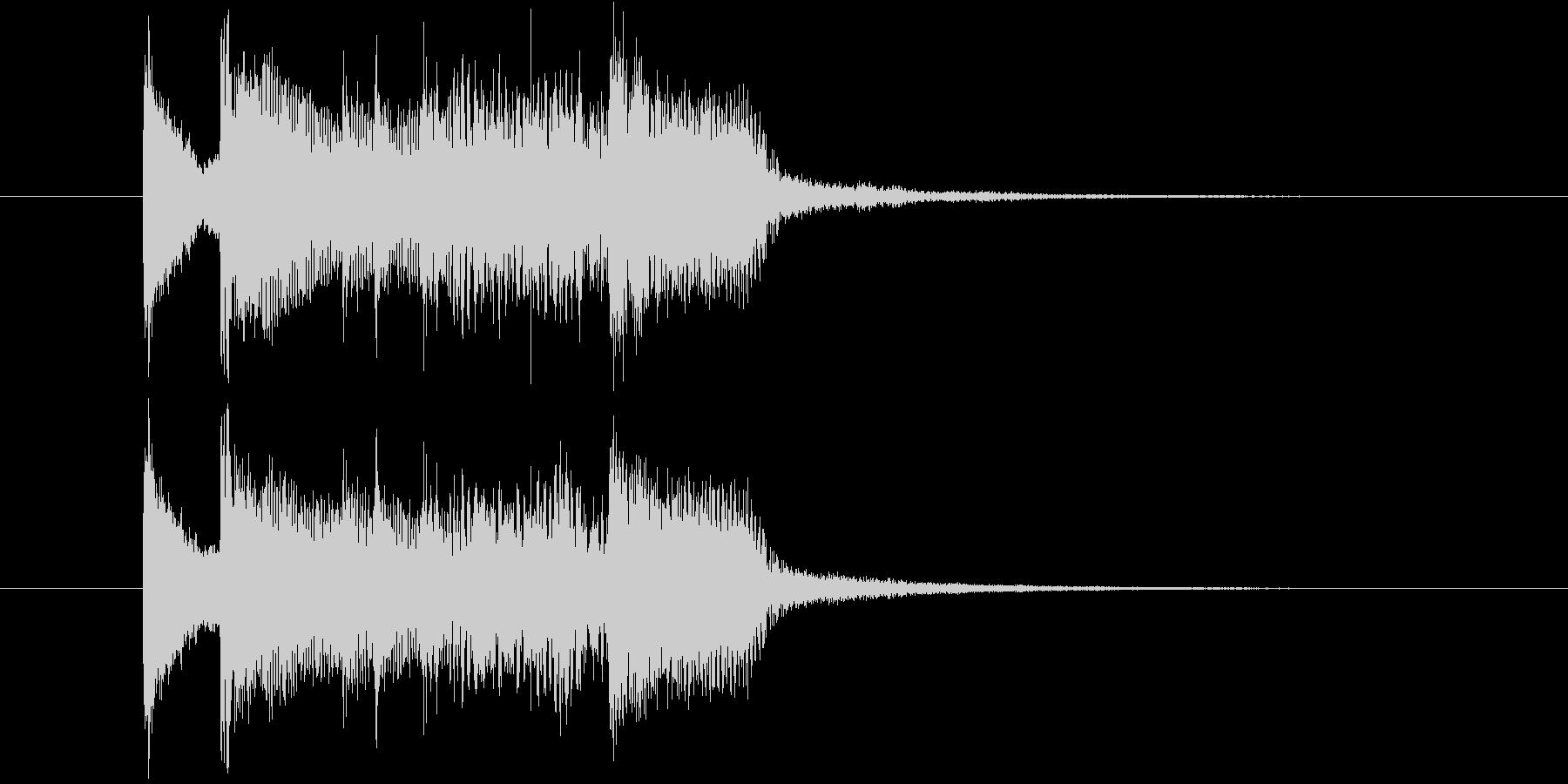 三味線と尺八のオシャレなロック・ジングルの未再生の波形