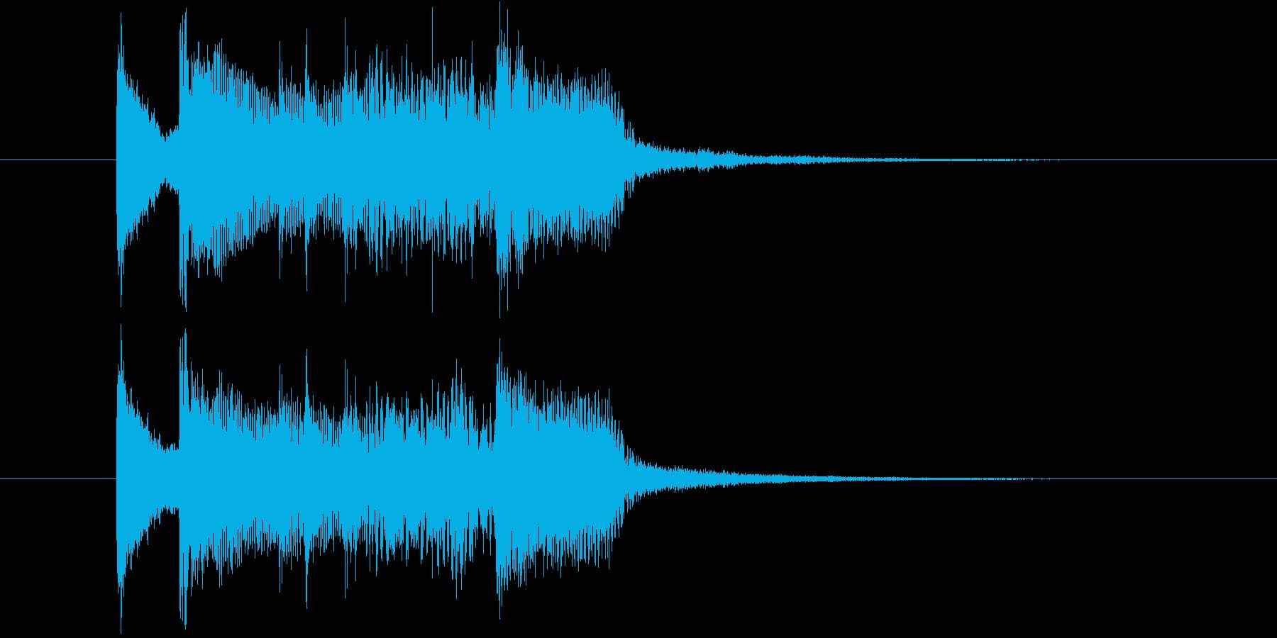 三味線と尺八のオシャレなロック・ジングルの再生済みの波形
