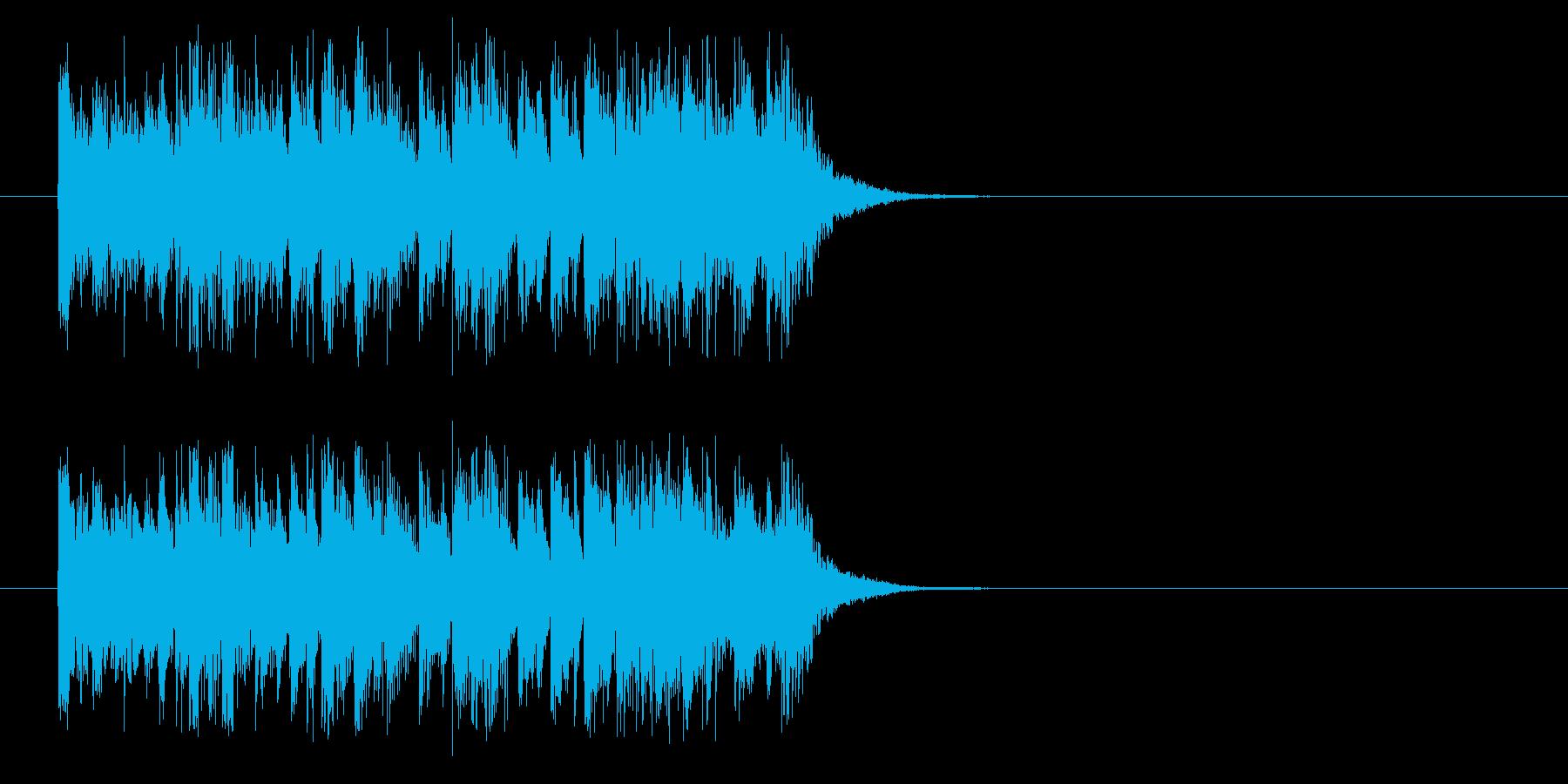 ジングル(それではVTRをどうぞ)の再生済みの波形