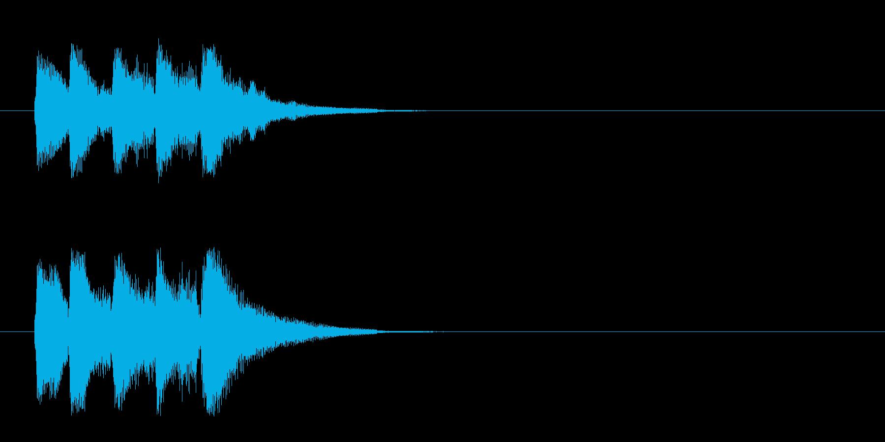 ジングル/ベル(場面転換)の再生済みの波形