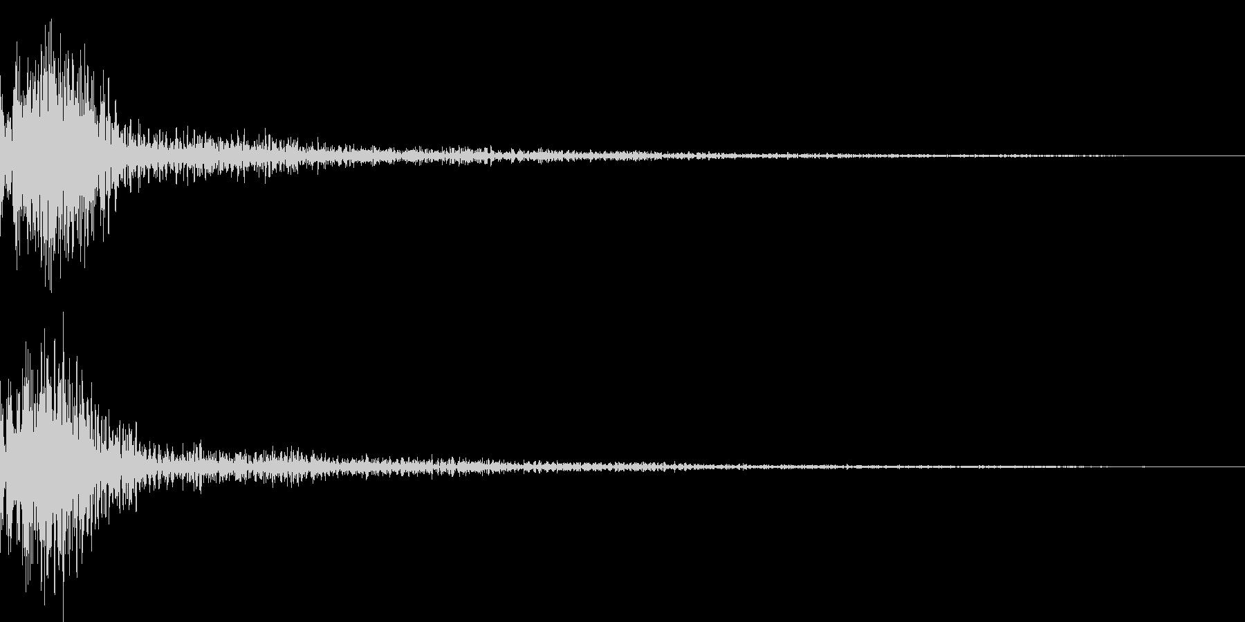 ドン!小太鼓の和風演出 効果音 02の未再生の波形