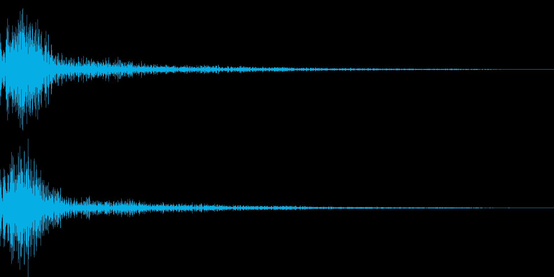 ドン!小太鼓の和風演出 効果音 02の再生済みの波形